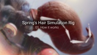 Spring's hair simulation rig 01 - How it works in principle