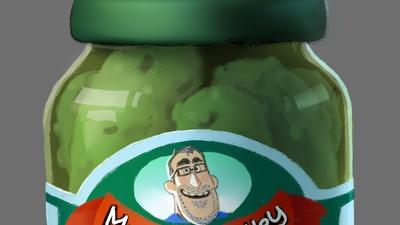 Pickle Jar and Pickle design