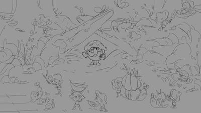 Sprite village sketch 2