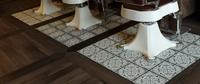 Barbershop floor texturing Closeup