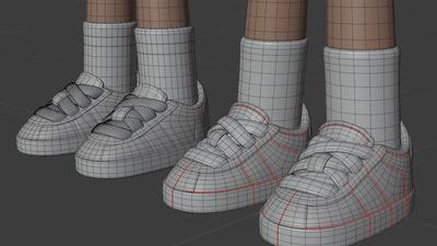 Rex shoes - retopo