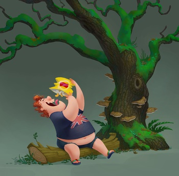 Phil pose & tree concept