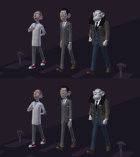 Character walkcycles, faster version