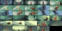 Sample of colored storyboard sequence