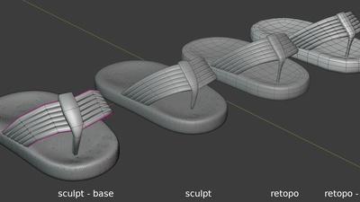 Phil sandals - retopo