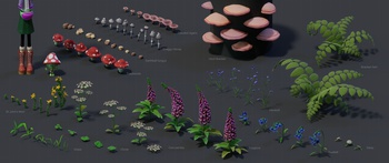 Environment Assets - Plants and Fungi