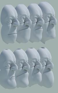 Henchmen Mouths & Chins