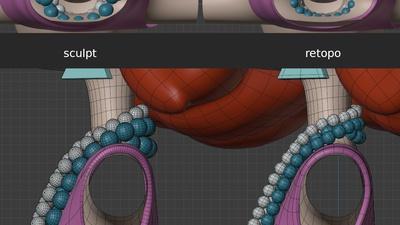 Victoria necklaces, alt views - retopo