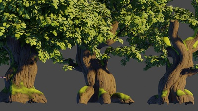 Oak trees: UV unwrapping update