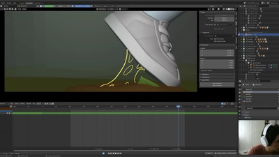 Adding additional effects in animation with Grease Pencil