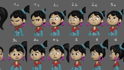 Ellie Expression Sheet Update #2
