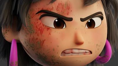 Distressed Ellie - Face Bruise
