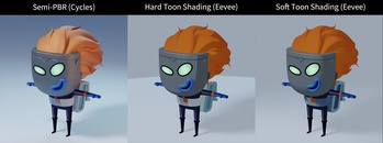 Lunte - Shading - WIP1: General Style Exploration