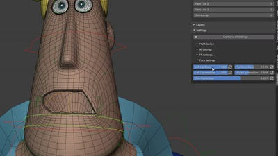 Rex Face Rigging: Lip Corner Experiments