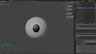 Sprite eyes - iris shape keys - timelapse 5/11