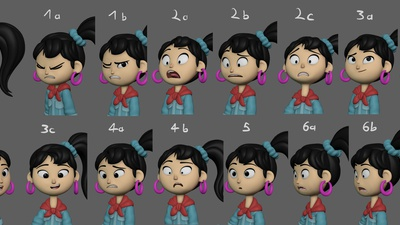 Ellie Expression Sheet Update #1