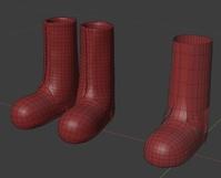 Ellie boots, wip - retopo