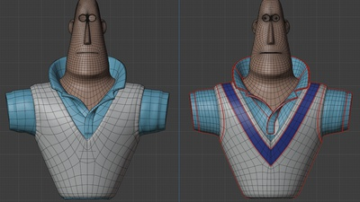 Rex shirt and vest, wip  - retopo