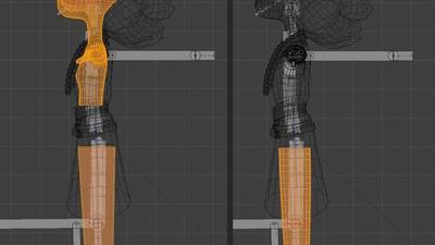 Victoria legs - retopo