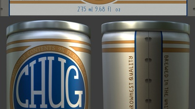 Beer Can Label