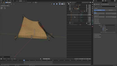 Prop rig: Tent & Semi-Collapsed Tent