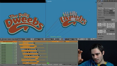 The Daily Dweebs - Animating the logo