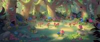 Sprite village painting