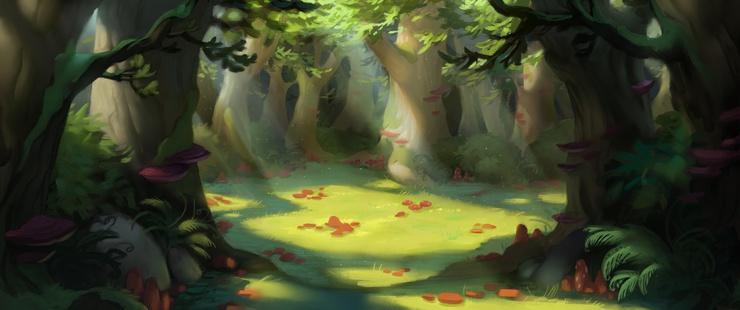 Concept Art for Mushroom Grove.