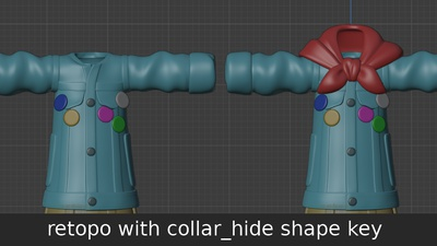Ellie jacket collar - shape key