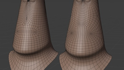 Rex rig helper face mesh - retopo