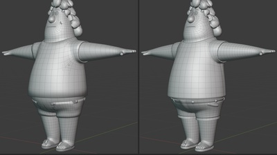 Phil completed - retopo