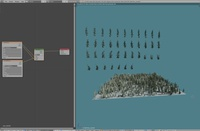 Pine tree cards (Blender example file)