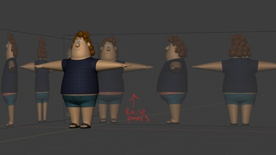 Phil clothing WIP, image guides  - retopo
