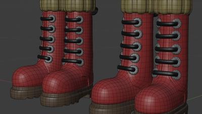Ellie boots - retopo