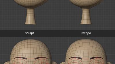Ellie eye lids and eyelashes - retopo