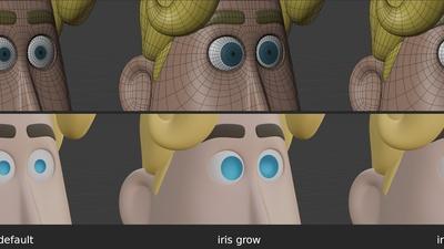 Rex eye iris - shape keys