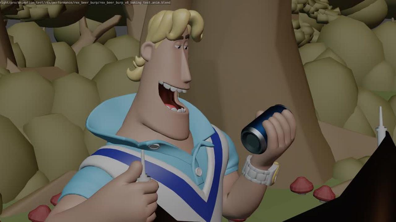 Rex Beer Burp Animation (wip)