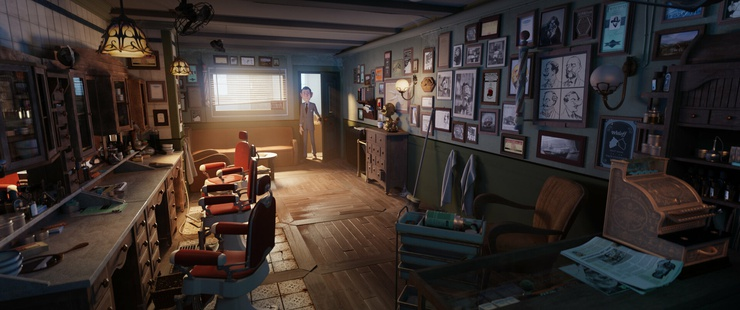 An example of Andy's approach: animated lighting that looks like a live action movie.