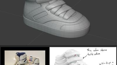 Bloody shoe - model