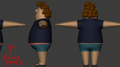 Phil clothing, Matthew's drawover  - retopo
