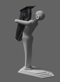 Wooden Figurine WIP Posterior