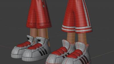 Jay pants, base mesh - retopo