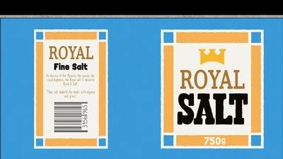 Salt Shaker Label