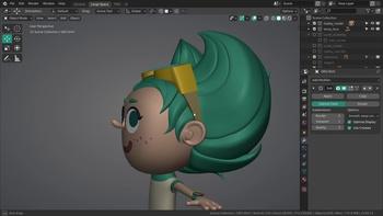 Gabby Modeling 3 - Further head & hair tweaks