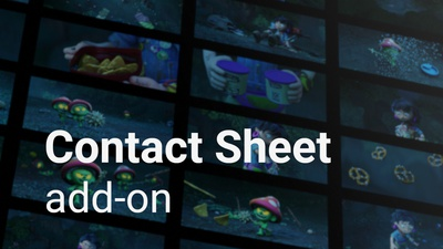Contact Sheet Add-on