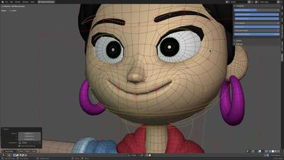 Ellie: Face halfway done!