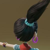 Ellie hair grooming 01 - normal hair