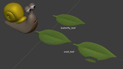 Snail leaf - model