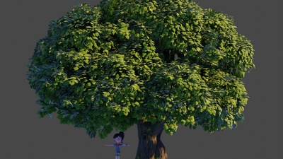 Oak tree 1: Particle randomness