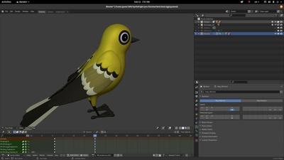 Bird WIP2: Feathers!